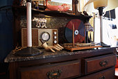 Vintage Collectibles in Second Hand Store