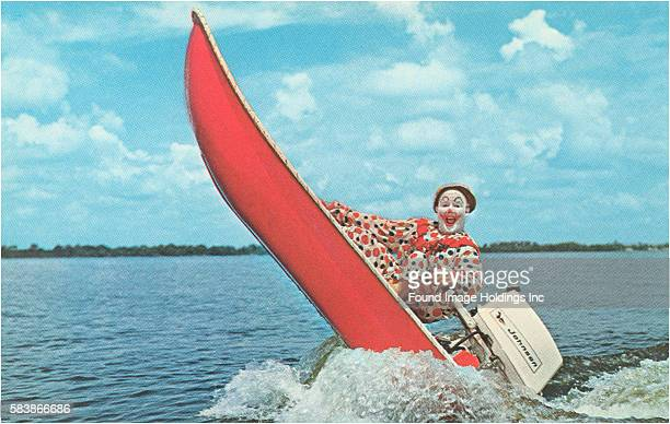 Clown Wind Surfing with Outboard