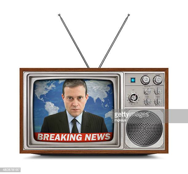 Vintage Color Television - Breaking News