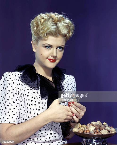 1953 Vintage colour transparency Cinema A portrait of the actress Angela Lansbury