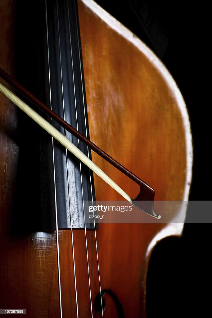 Vintage double bass : Stock Photo