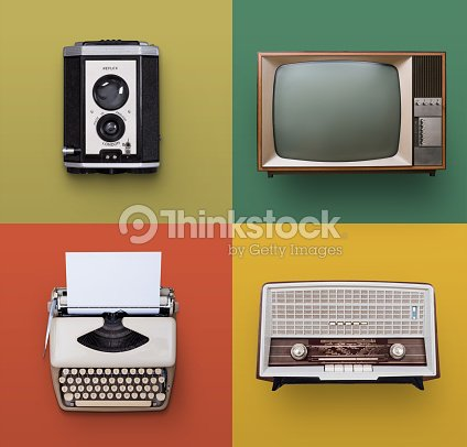Vintage electronics : Stock Photo
