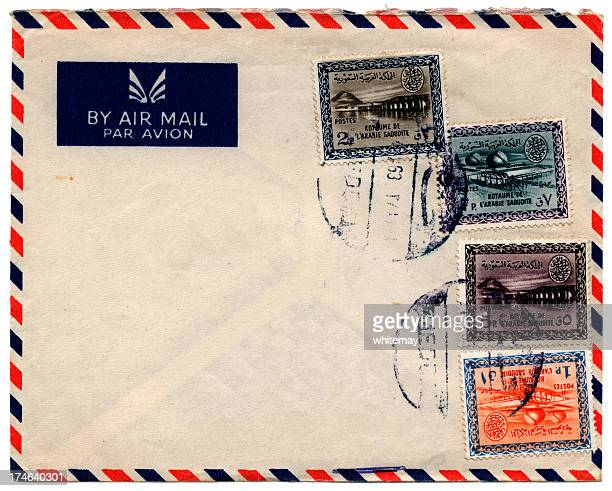 Vintage envelope with stamps