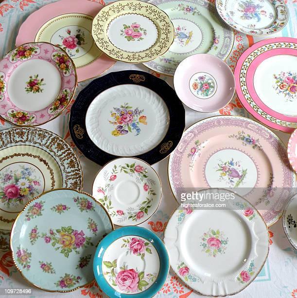 Vintage European china plates