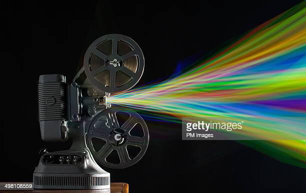 Vintage Film Projector,  Multi Colors