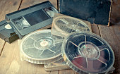 vintage Film Reel and Video tape