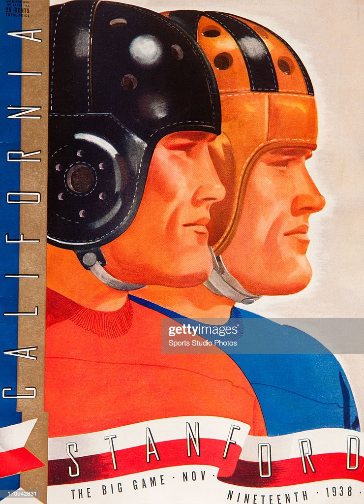 Vintage Football Program. 1938 University of California vs. Stanford University football program.