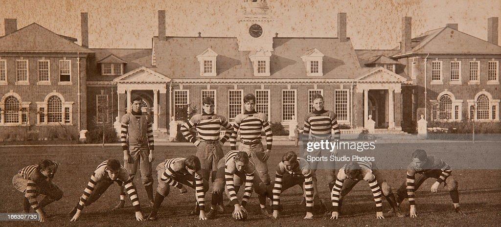 Vintage Football Team Photo. 1920's Concord, New Hampshire high school football team photo.