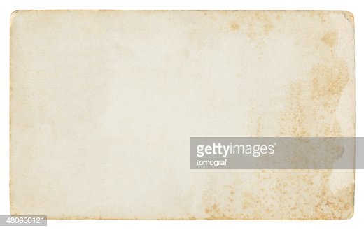 Vintage foto paper isolated (clipping path included) : Stock Photo