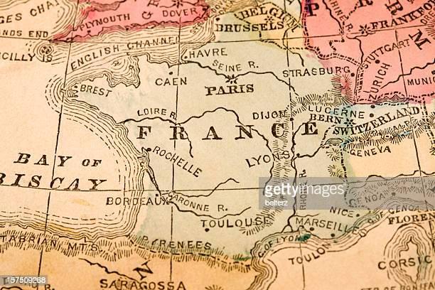 France Carte vintage