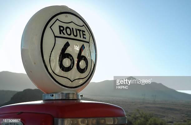 ビンテージガソリンパンプスのルート 66