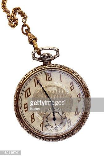 Vintage gold Art Deco pocket watch