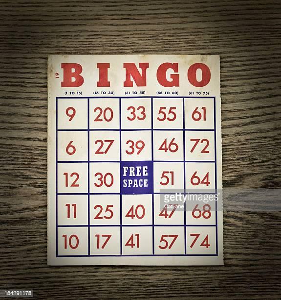Vintage Grungy Bingo Card