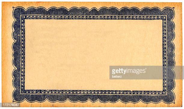 vintage guarantee card