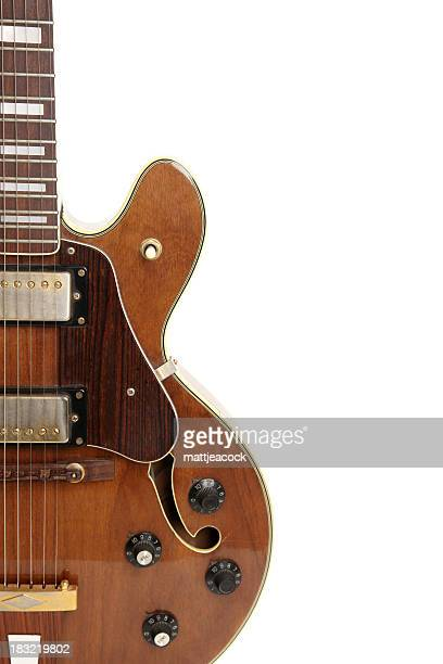 Vintage guitar isolated on white
