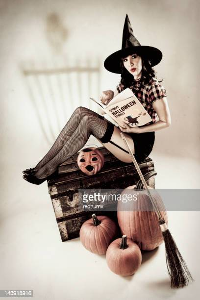 Vintage Halloween Pinup Witch