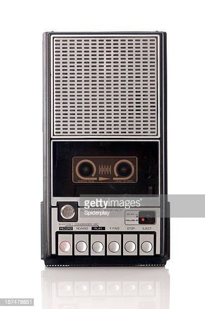 Vintage handheld tape recorder