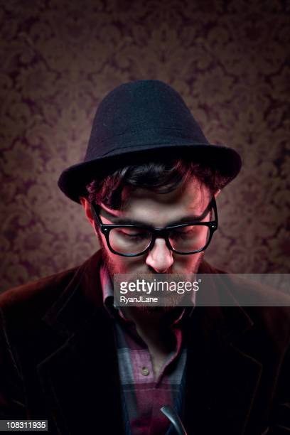 Vintage Hipster Man with Fedora