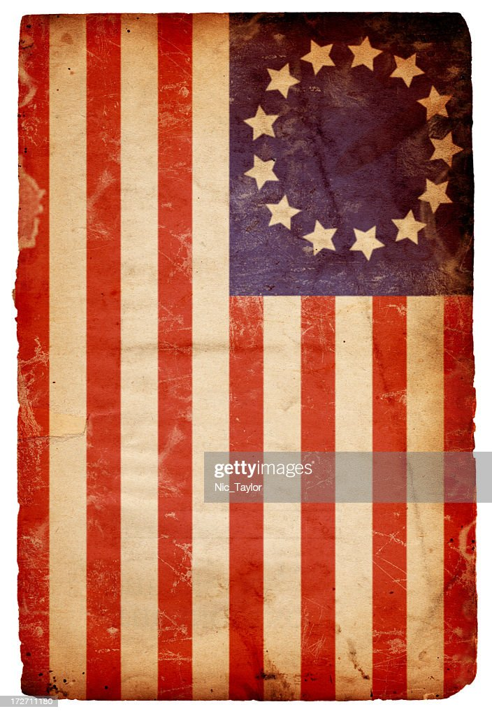 Vintage horizontal American flag background : Stock Photo