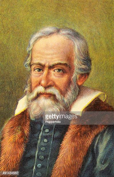 A vintage illustration featuring Galileo Galilei the Italian astronomer and philosopher published circa 1900