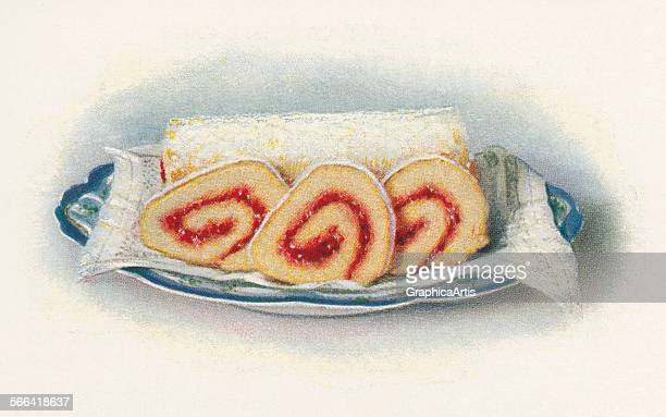 Vintage illustration of a jelly roll screen print 1930