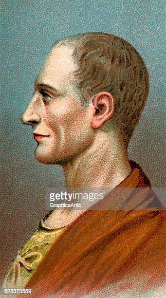 Vintage illustration of Julius Caesar chromolithograph 1923
