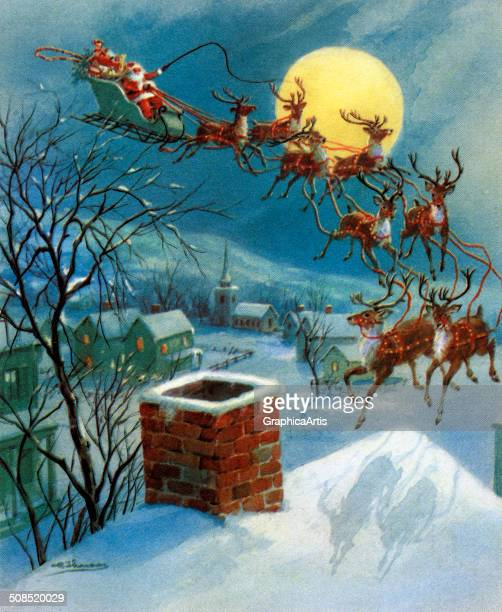 Vintage Santa Sleigh Stock Photos And Pictures Getty Images