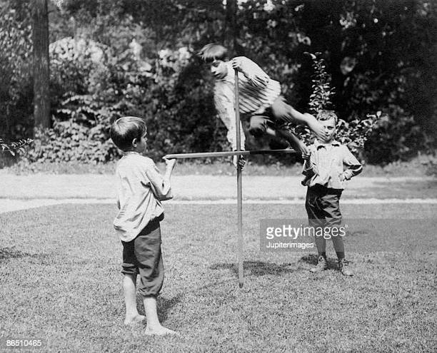 Vintage image of boys playing