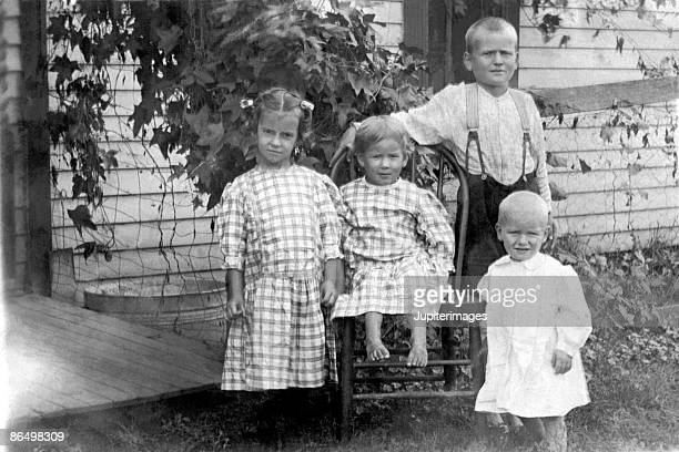 Vintage image of children