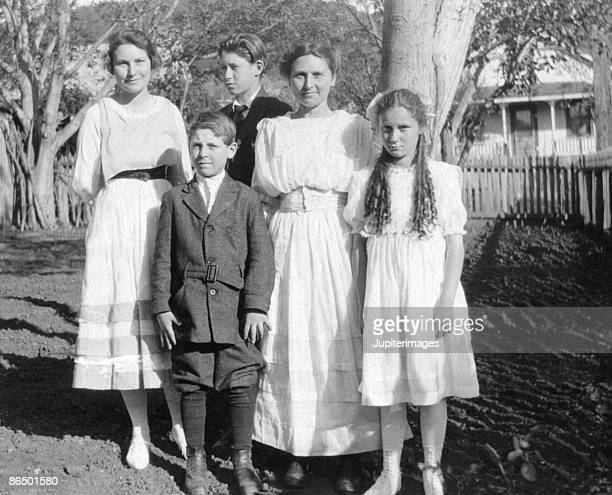 Vintage image of family