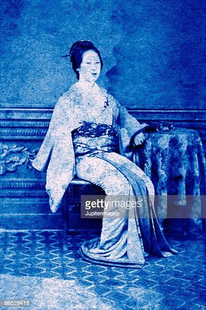 Vintage image of geisha