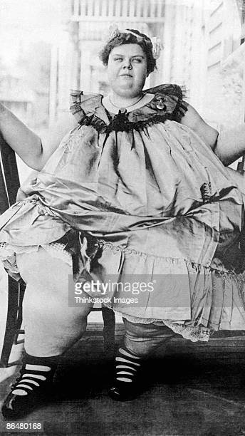 Vintage image of obese woman