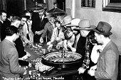 Vintage image of people gambling