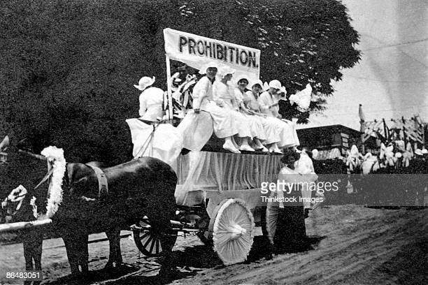 Vintage image of prohibition parade