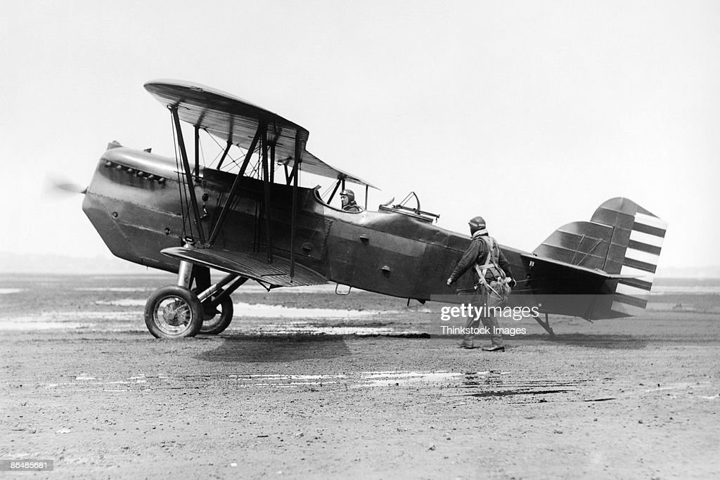 Vintage image of US Army Air Corp Pursuit Biplane