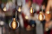 Vintage incandescent Edison type bulbs
