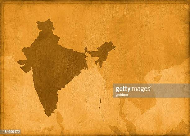 Vintage india map