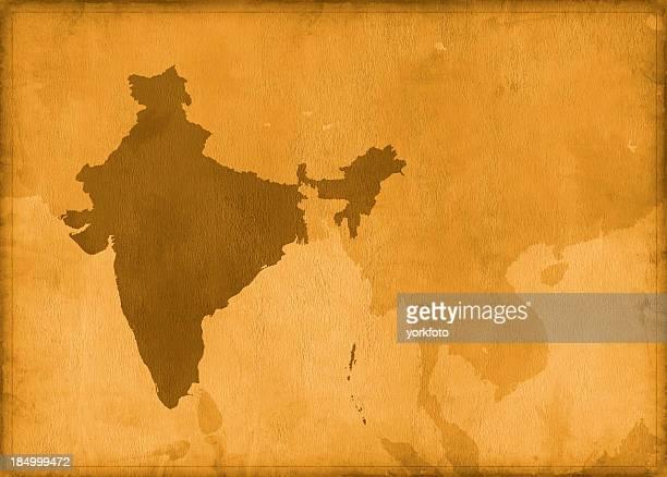 Vintage Karte von Indien