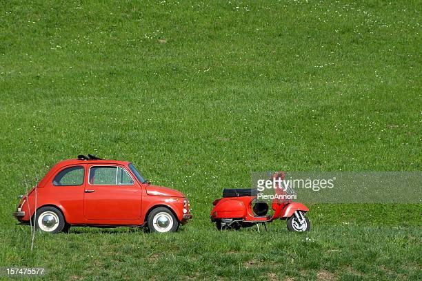 Vintage Italian car & bike