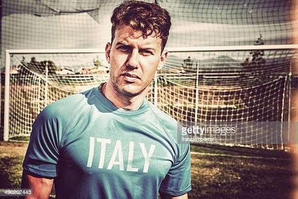 vintage italian Soccer player portrait
