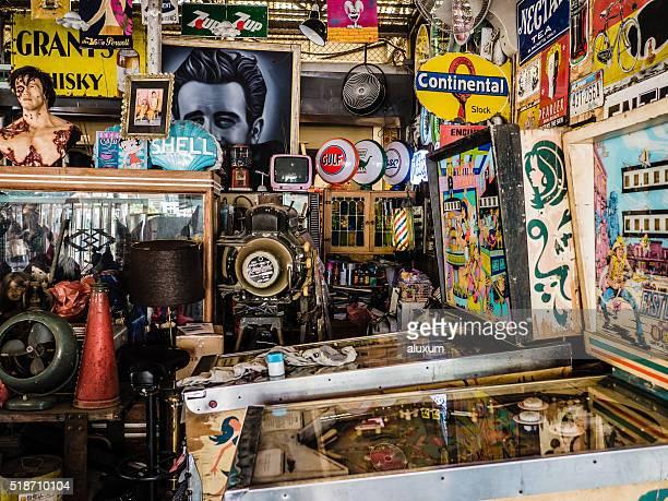 Objets anciens boutique de Bangkok, en Thaïlande