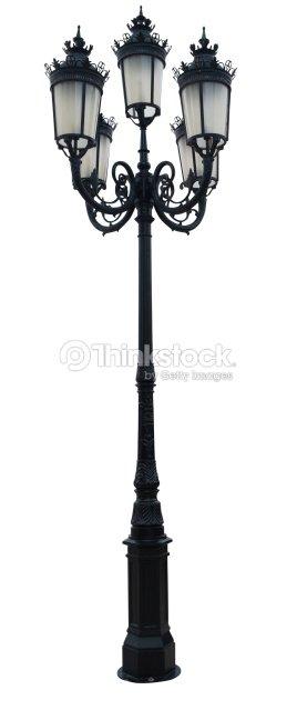 Vintage lamp post street road light pole isolated on white stock vintage lamp post street road light pole isolated on white stock photo mozeypictures Images
