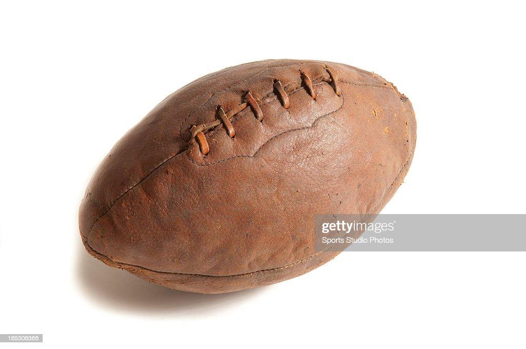 Vintage Leather Football. 1910 style vintage leather football.