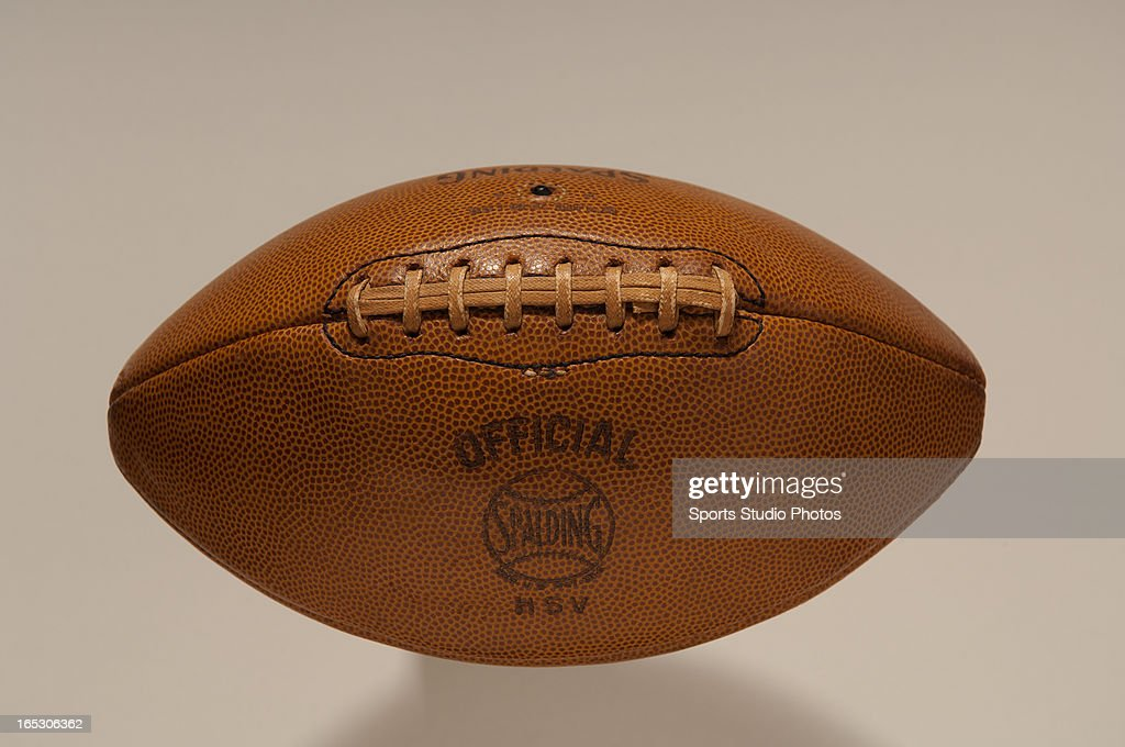 Vintage Leather Football. 1940's vintage Spalding brand leather football.