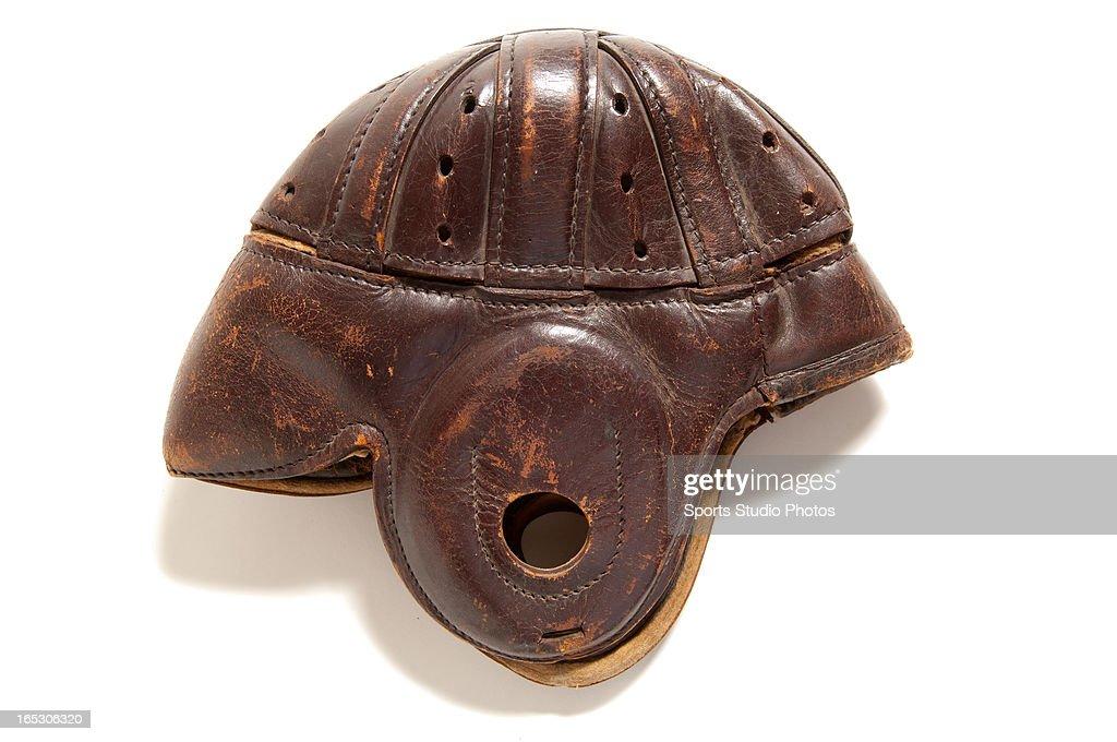 Vintage Leather Football Helmet. 1920's Vintage leather football helmet.