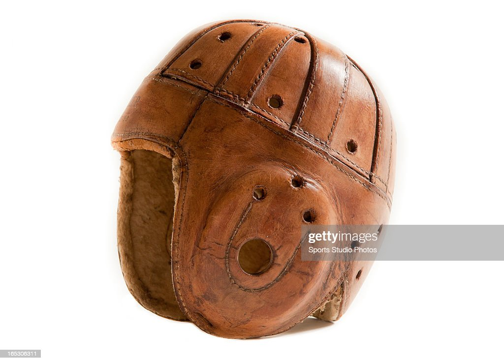 Vintage Leather Football Helmet. Vintage 1920's Stahl and Dean Sporting Goods leather football helmet.
