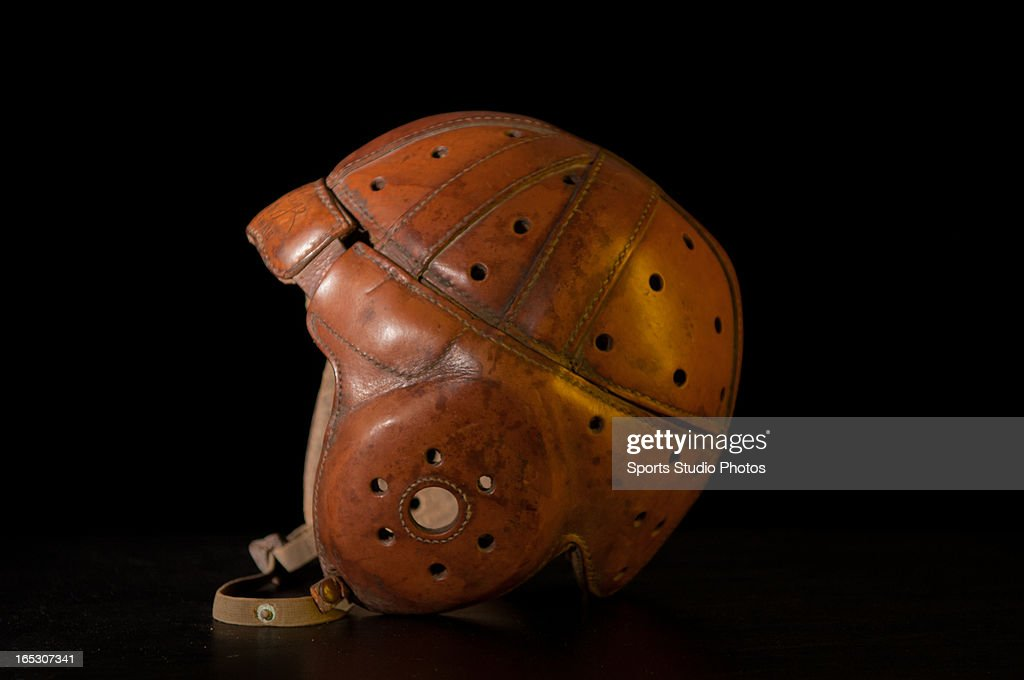 Vintage Leather Football Helmet. Vintage leather football helmet with original chin strap.
