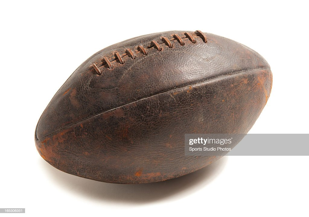 Vintage Leather Football. Vintage leather football with leather lacings.