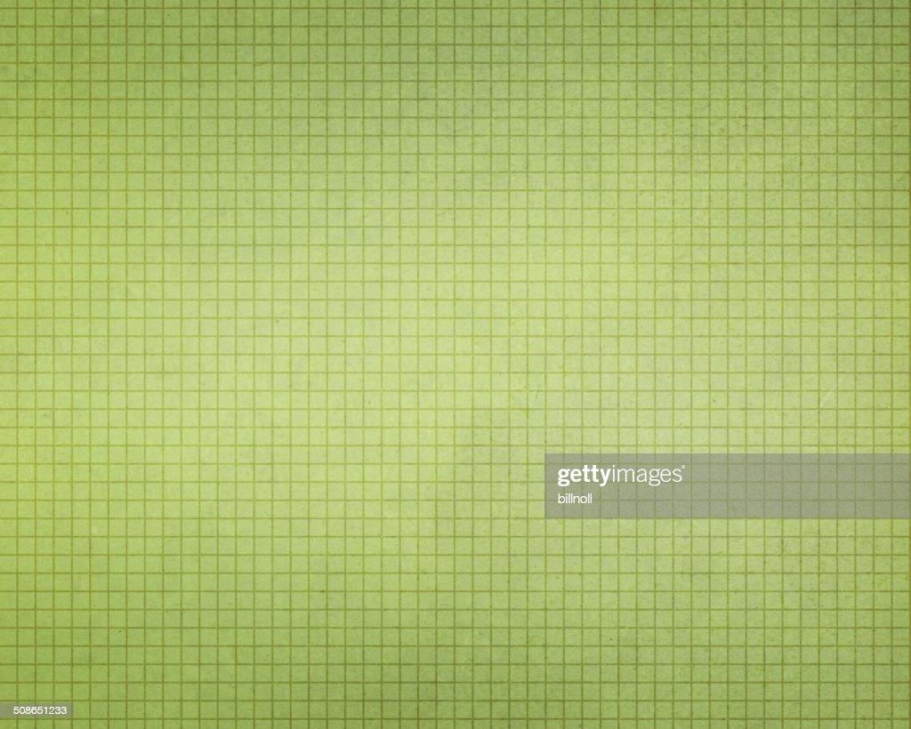 vintage light green graph paper : Stock Photo