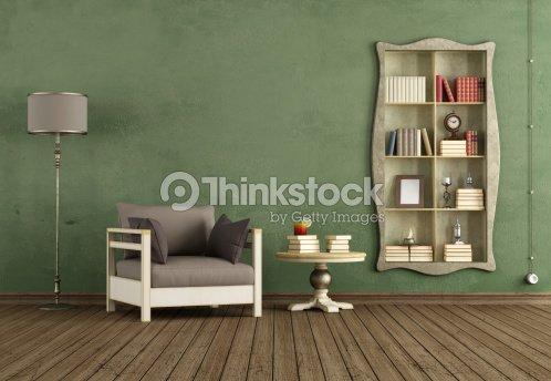 vintagewohnzimmer stock-foto | thinkstock - Vintage Wohnzimmer Grun